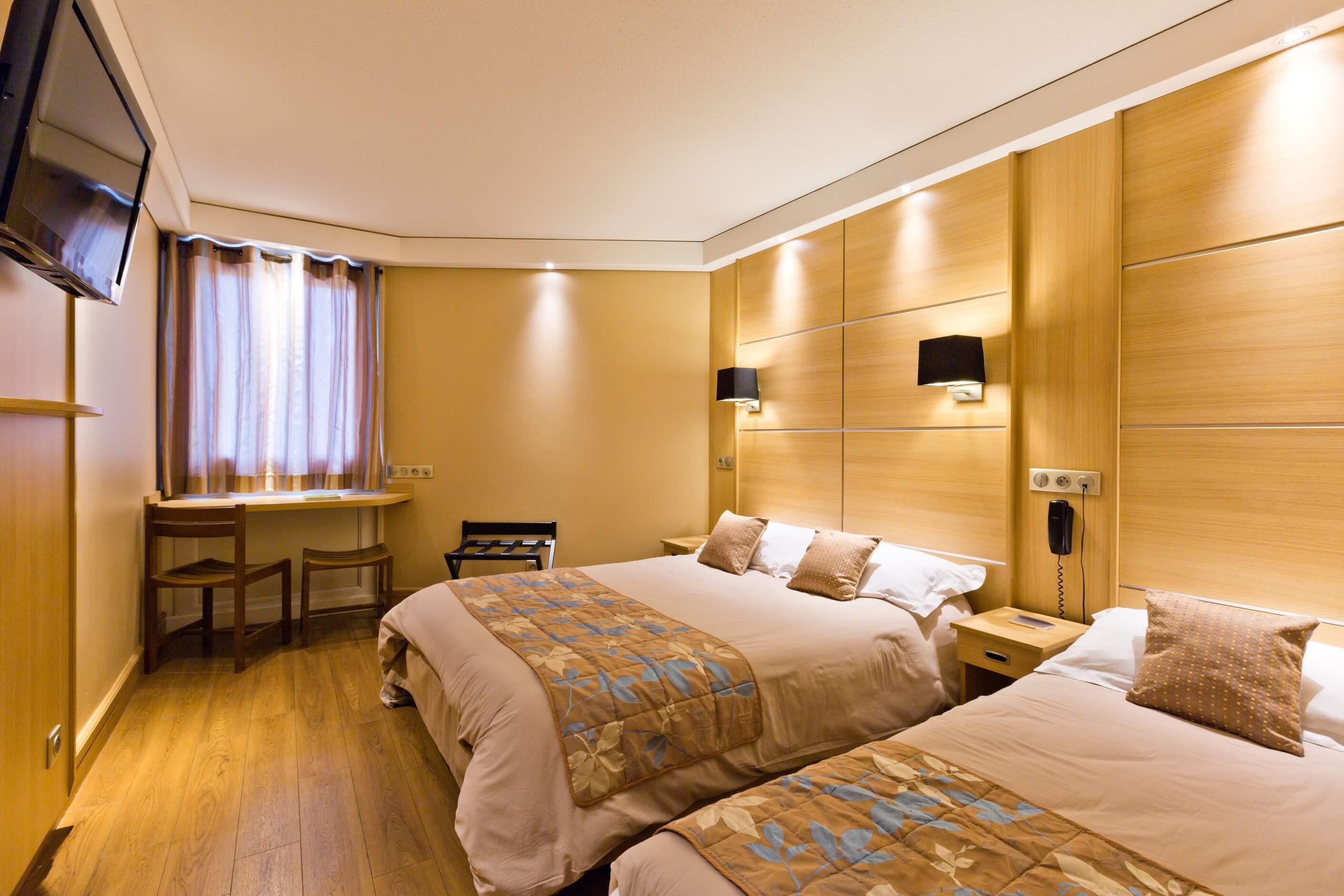 équipement des chambres familiales de l'hôtel Novel