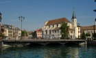 Canal à Annecy et vieille ville